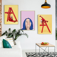 Singer Girl Billie Eilish Quotes Wallpaper Minimalist Art Canvas Poster Painting Oil Wall Picture Print Home Bedroom Decoration