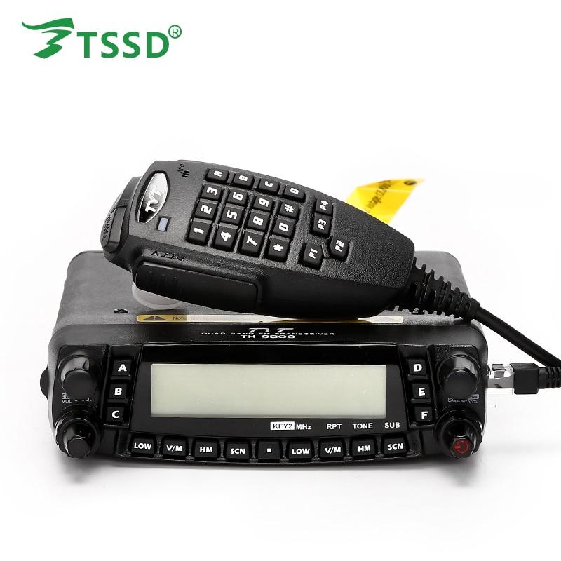 TYT TH-9800 50 w Mobile Radio Ricetrasmettitore VHF UHF Quad Band Auto Stazione Radio CB Walkie talkie per camionisti Prosciutto radio