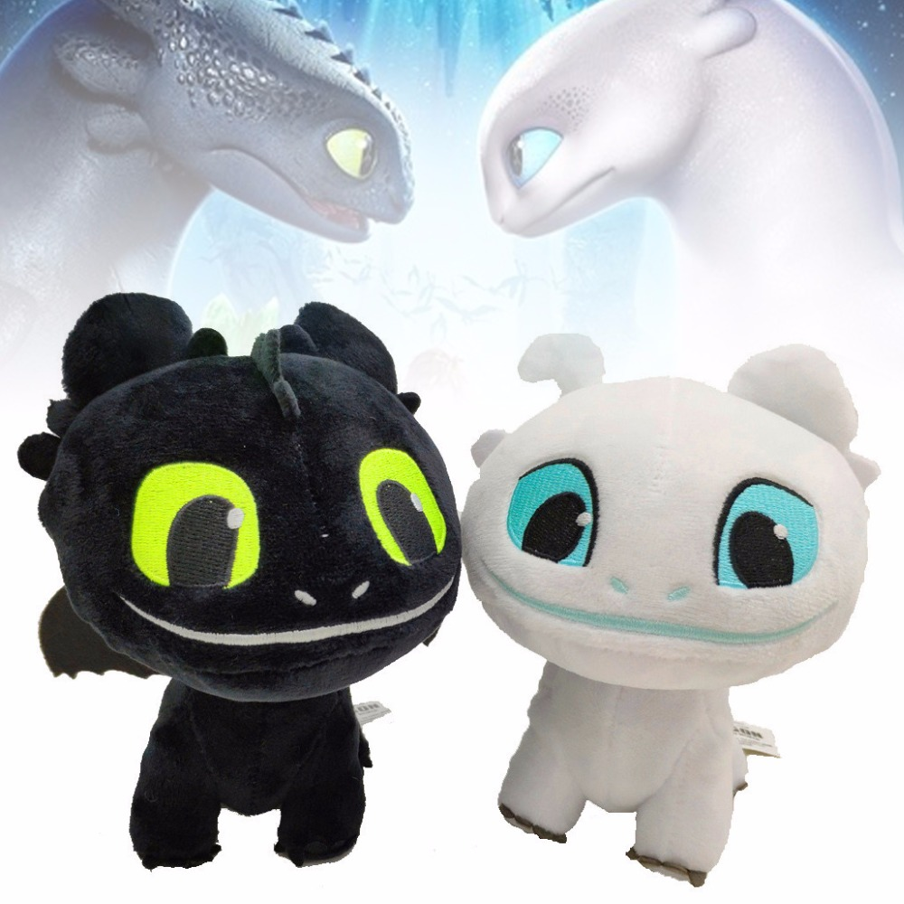 How to Train your Dragon 3 Light Fury Kid Toy Gift Doll Cartoon Plush Hot