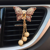 car air outlet JOORMOM bow tie pendant air outlet, perfume clip creative car accessories female vehicle aromatherapy car decoration interior (5)