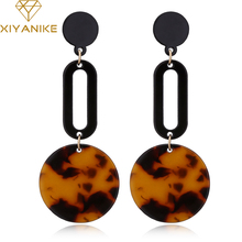 XIYANIKE Vintage Bohemia Geometry Acrylic Drop Earrings For Women Girl Classic Club Jewelry Punk Earring Statement Brincos E1824