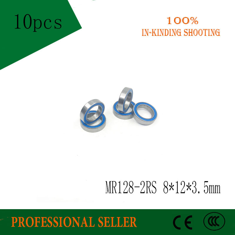 купить Free shipping 10pcs/lot MR128-2RS 678-2RS MR128 ABEC-3 678 deep groove ball bearing 8x12x3.5 mm miniature bearing по цене 382.73 рублей