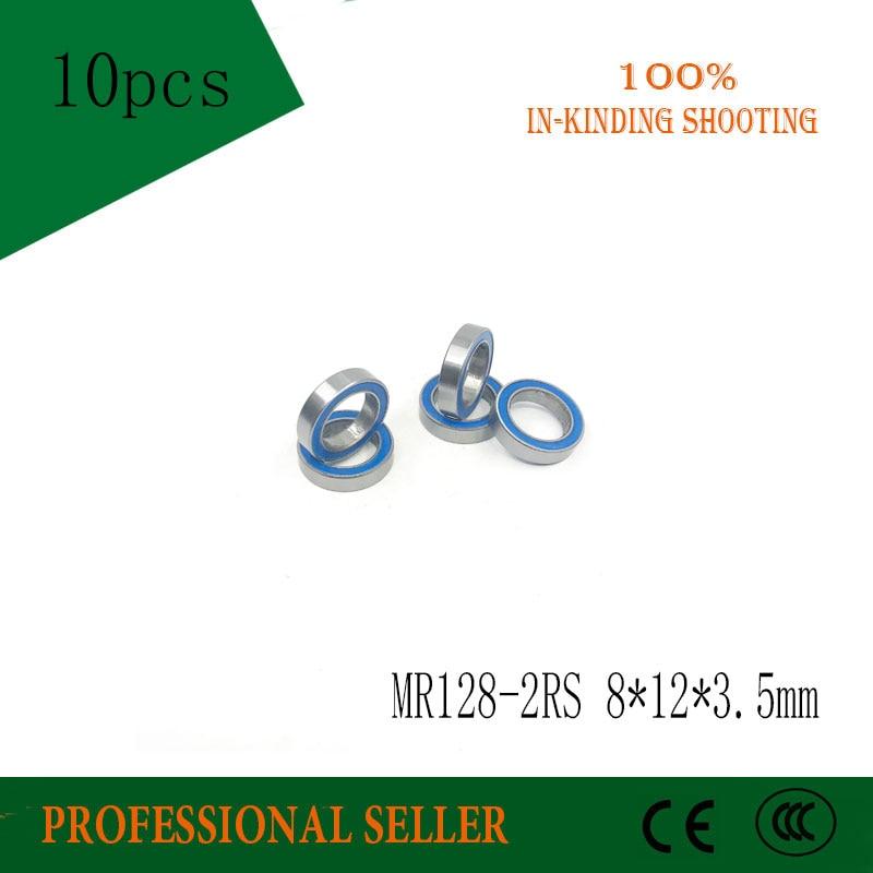 Free Shipping 10pcs/lot MR128-2RS 678-2RS MR128 ABEC-3 678 Deep Groove Ball Bearing 8x12x3.5 Mm Miniature Bearing