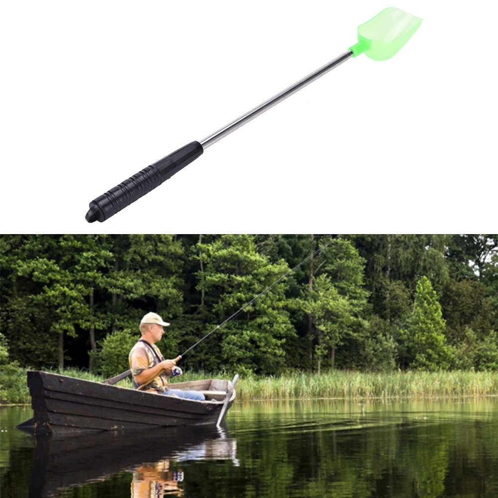 قابل للتعديل الاصطياد رمي ملعقة مع مقبض معدني رمي عصا الكارب الصيد علف الاسماك السمك أداة 100x12 cm
