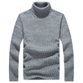 Men Thick Winter Sweater Knitted Turtleneck Solid Oversize Fashion Pullovers Slim Fit Casual Mens Plus Size Sweaters