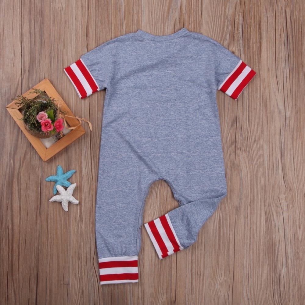 Odzież dziecięca dla niemowląt Szary pasek w paski Komiksowy - Odzież dla niemowląt - Zdjęcie 3