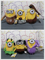 6pcs/lot Minion Plush Stuffed Toys Doll Despicable Me Vampire Primitive Pirate 20cm 3D Eye Minions Christmas Birthday Gift toys