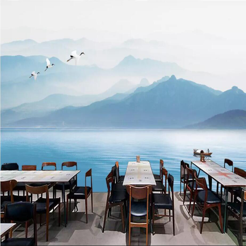 YOUMAN Custom New Chinese 3d Photo Wallpaper Wall 3d Murals Wallpaper Abstract Nordic Sofa Simple Background Wall Home Decor
