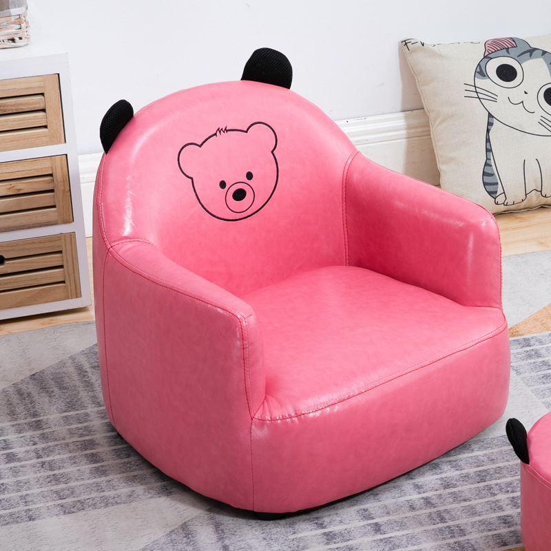 Children Sofa Animal Sofa Seat Cartoon Woman Back Chair Reading Corner Stool Waterproof Chair For Kids  Baby Furniture