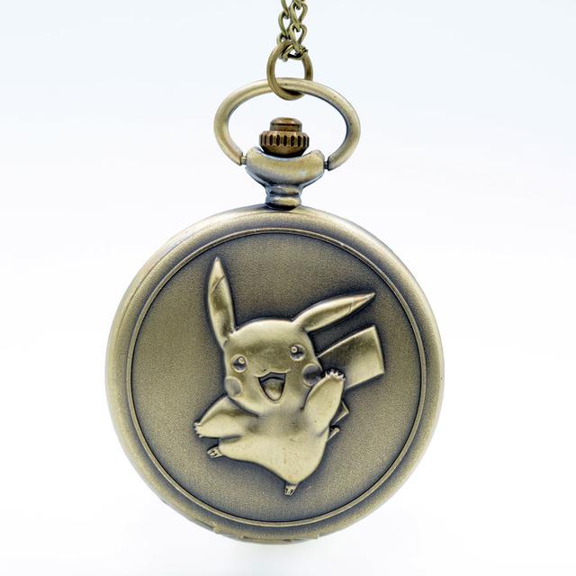Pokemon Quartz Pocket Watch And Necklace