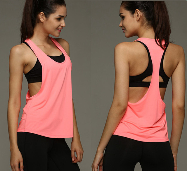 57139f2bf3b820 Women s Yoga Running Shirts Elastic Breathable Gym Fitness Comfortable  Sports Vest Ladies Vest Yoga Tank Top