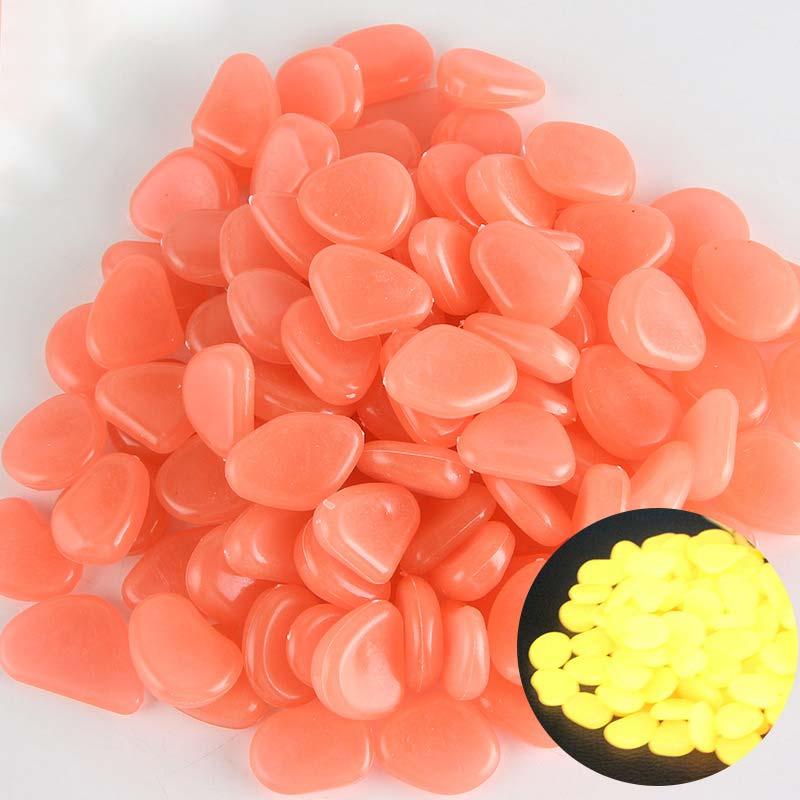 Садовые камни для дорожек, патио светится в темноте, светящиеся камни, садовая дорожка, светящиеся камни, садовый декор, газон, 10 шт./партия, камни - Цвет: Shallow orange