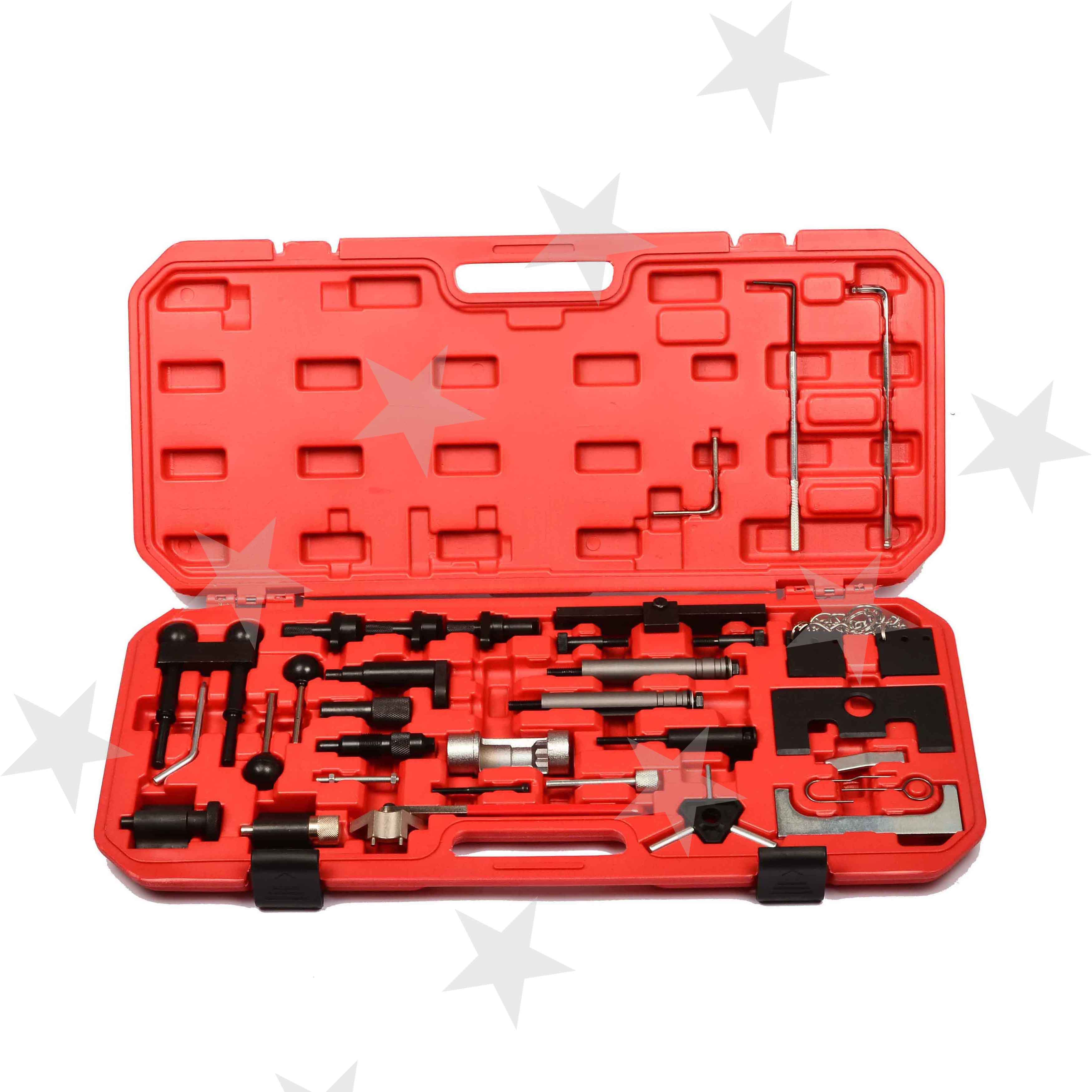 34Pcs Professional For VW Audi VAG Master Engine Timing Tool Set Kit Petrol Diesel Auto