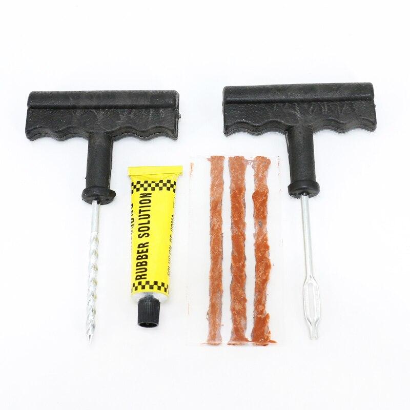 Kit de Reparação de Pneus de carro Peças Conjunto de Ferramentas de Reparo Do Carro Da Bateria Da Motocicleta Carro Reparação de Pneus Ferramenta