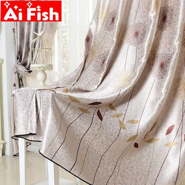 Пасторальный жаккард романтическая печать Одуванчик окна шторы для гостиной окна балдахин тюль для роскошных панелей MY023-40