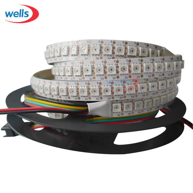 5m 30/32/36/48/60/72/96/144 leds/pixels/m APA102 Smart led pixel strip ,DATA and CLOCK seperately DC5V IP30/IP65/IP67
