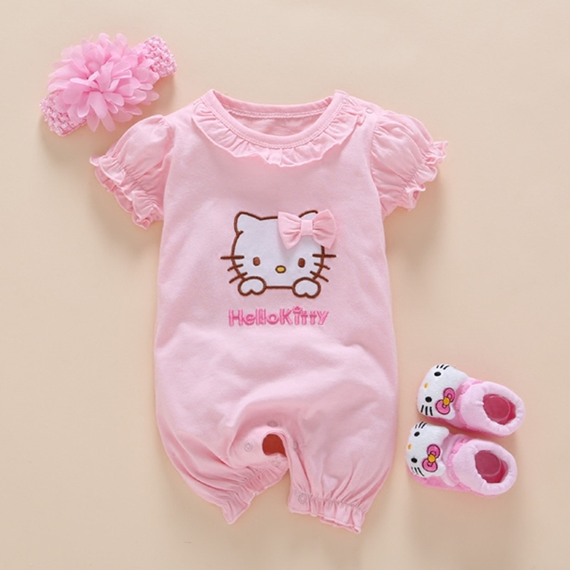2dbb3849cc0 2017 Summer Style Baby Rompers Girls Clothes Cotton Cute Romper Newborn  Jumpsuits Ropa Bebes Boy Clothing