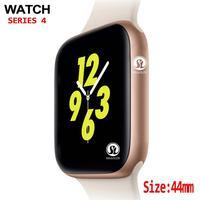 ساعة ذكية 44 مللي متر ، لون ذهبي ، لهاتف apple watch iphone 6 7 8 X Samsung Android ، متوافق مع Whatsapp