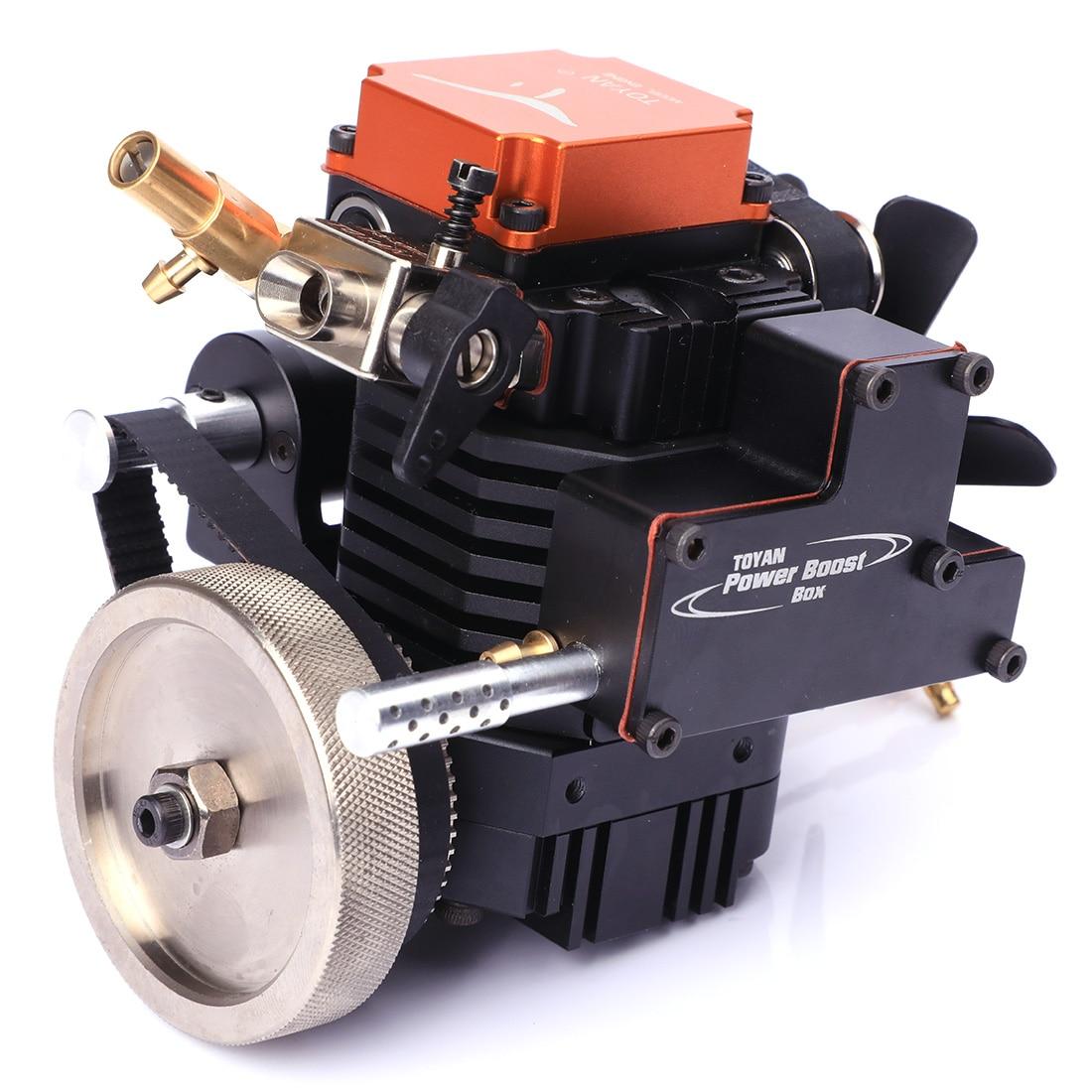Motor de modelo de metanol de cuatro tiempos Toyan con Motor de arranque para 1:10 1:12 1:14 RC coche barco avión FS S100G-in Kits de construcción de maquetas from Juguetes y pasatiempos    3