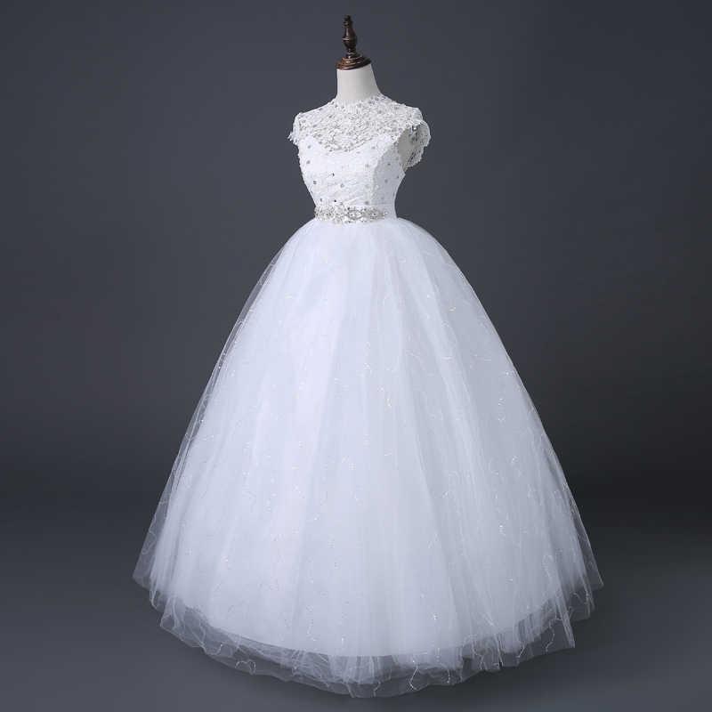 Nuovo A Vita Alta Abiti Da Sposa per le Grandi Dimensioni in Stile Coreano Sposa Della Principessa Abiti Da Sposa NW005