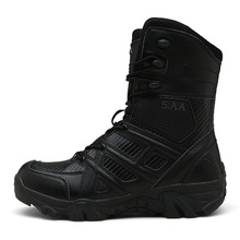 купить Men Outdoor Hiking shoes Military Boots Male Breathable Special forces High-top Desert Tactical  Combat Boots  Trekking Off-road онлайн