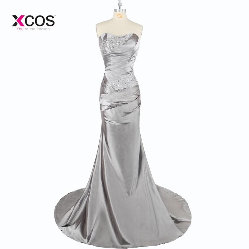 Brautjungfernkleid 2018 Long Grey Bridesmaid Dresses For Weddings Sweetheart Sleeveless With Beadings Bridesmaid Dress