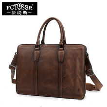 2017 New Retro Genuine Leather Leisure Shoulder Bag Handmade First Layer of Cowhide Men s briefcase