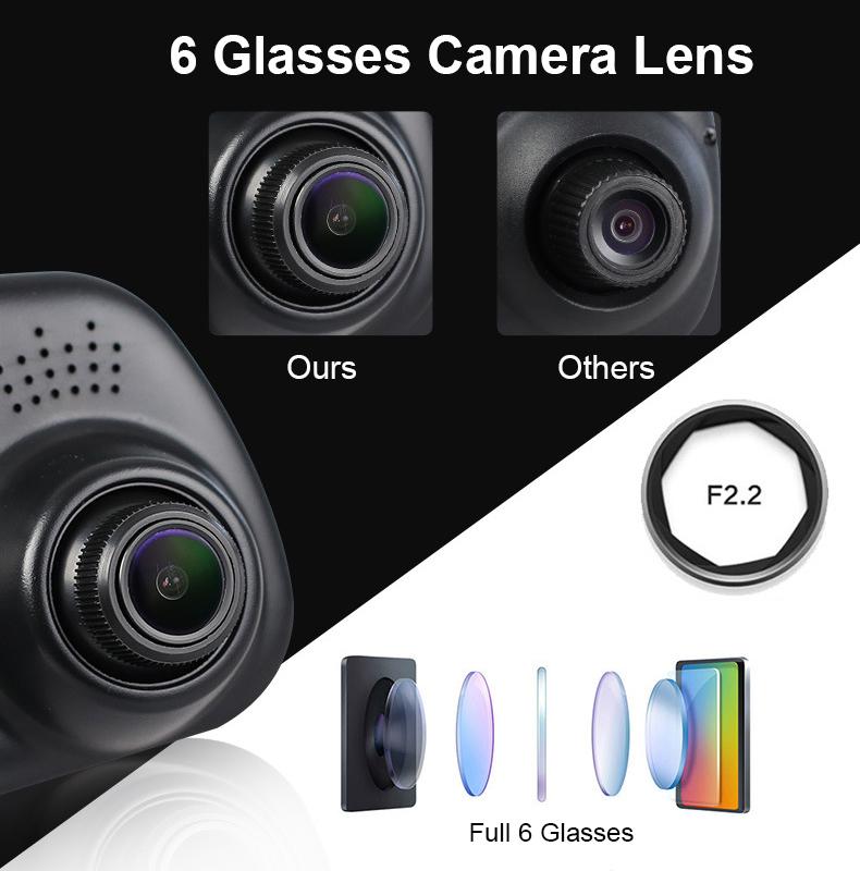 E-ACE Car Dvr 1080P Dual Lens Dash Camera Rear Mirror Digital Recorder With Rearview Camera Video Recorder Camcorder Registrar 13