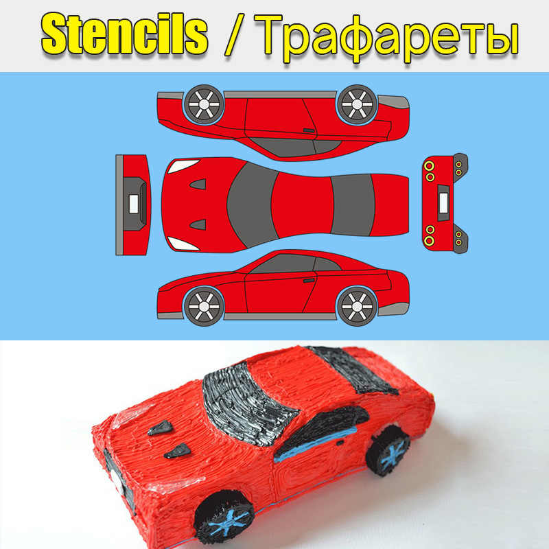 photograph relating to 3doodler Stencils Printable known as Stencils for 3D Pen Style Board for 3D Printer Pen 10/20/30