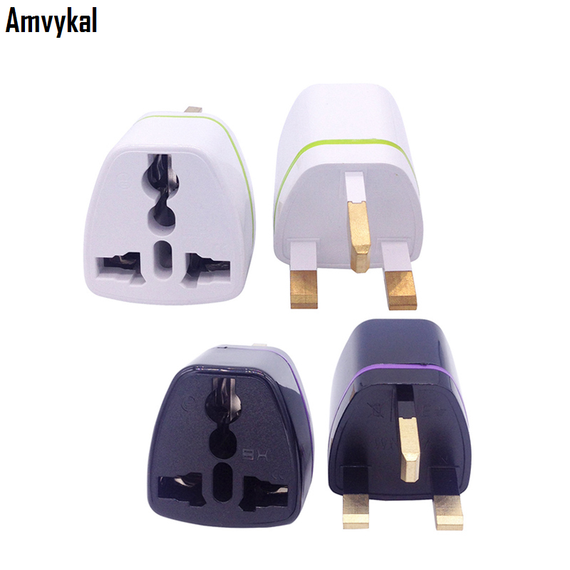 Amvykal CE ROHS AC Power Electrical Plug Adaptor Universal AU EU US To UK Plug Adapter UK Travel Charger Converter 1000 Pcs/lot