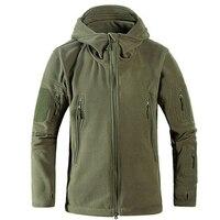 Tactical Softshell Men Casual Jackets Military Style Fleece Thermal Polar Man Sportswear Eurpoean Size Brand Army