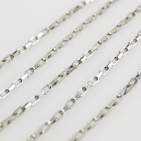 100% 316 Stainless Steel 1.5mm Long Box Chain Silver Metal Roll Necklace DIY Jewelry Fittings High Quality Wholesale 100m/pcs
