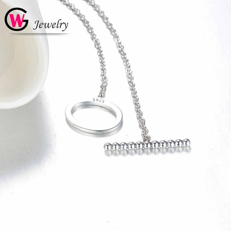 GW браслеты и браслеты на цепочке с 925 стерлингового серебра, браслеты с брелоками для девушек, визуально увеличивающие ювелирные изделия легко манжеты Mujer женские браслеты бренд