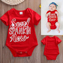 Baby Girl Roupas Bodysuit 2016 Hot Newborn Infant Kids Baby Boy Girl Summer Red Cotton Roupas Jumpsuit Outfits Baby Clothing