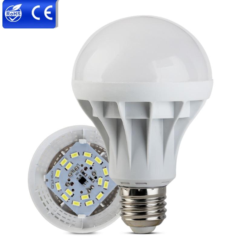 E27 220V Ampoule Candle Luz Bombillas LED Lamp SMD 5730 Lamparas LED Light 1W 3W 5W 7W 9W 12W 15W Lampada LED Bulb Warm Lighting