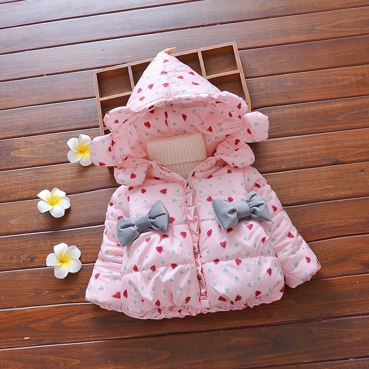 3 renk!!! kış Kız Mont Külkedisi Kız Çocuk Kabanlar Coat Pamuk Paddad Çocuklar Giyim moda Ceketler Noel Hediyeleri