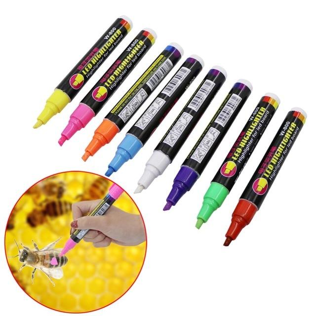 1 pz Queen Ape Marcatura Marker Pen Set 8 Colore Apicoltura E Api Strumenti Quee