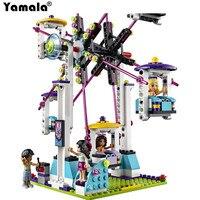 [Yamala] Amis Parc D'attractions Montagnes Russes Blocs de Construction Classique Pour Fille Enfants Modèle Jouet Compatible avec LEGOINGLY AMI