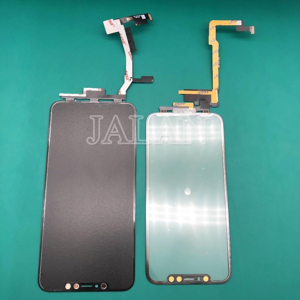 Jalan Layar Sentuh untuk Ponsel X Max TP Digitizer LCD Touchscreen + 3D Sentuh FLEX Kabel Tidak Perlu Solder display Repair