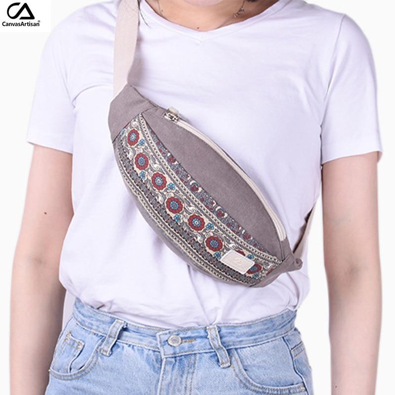 New Women Waist Pack Tygväskor Multi-functional Waist Bag Retro - Bälten väskor - Foto 2