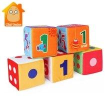 Activity Soft Toys Newborns 0-12 Months Rattle Cloth Buildin
