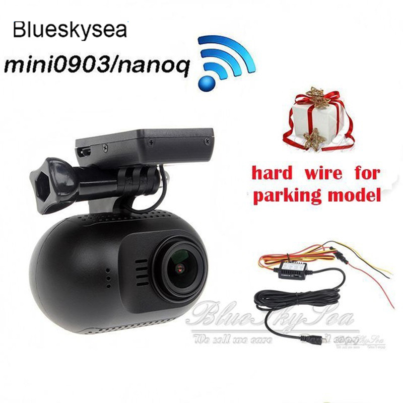 Car DVR Mini 0903 nanoq 1080p HD Wifi Car Dash Cam Dashcam Capacitor Night Vision NT96655 IMX322 GPS +Hard Wire Parking cable conkim novatek 96655 dvr dash cam camera wifi gps auto registrar 1080p full hd video recorder 24h parking guard mini 0903 nanoq