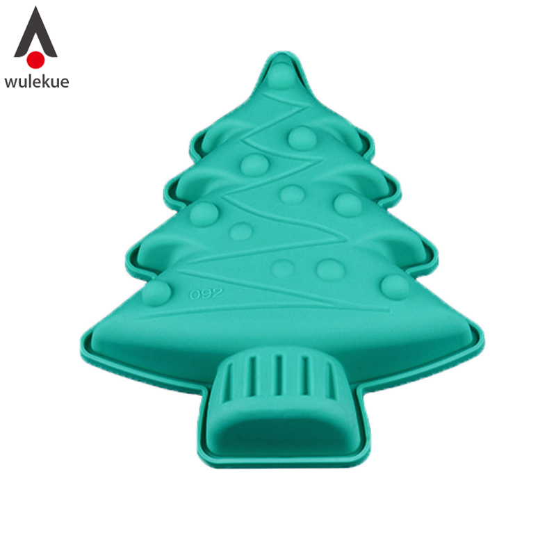 1PCS Silicone Non-Stick Christmas Tree Cake Mold for Pie Jelly Muffin հաց Հացաթխման հացաբուլկեղեն թխում Pan Party Angel Food Cakes