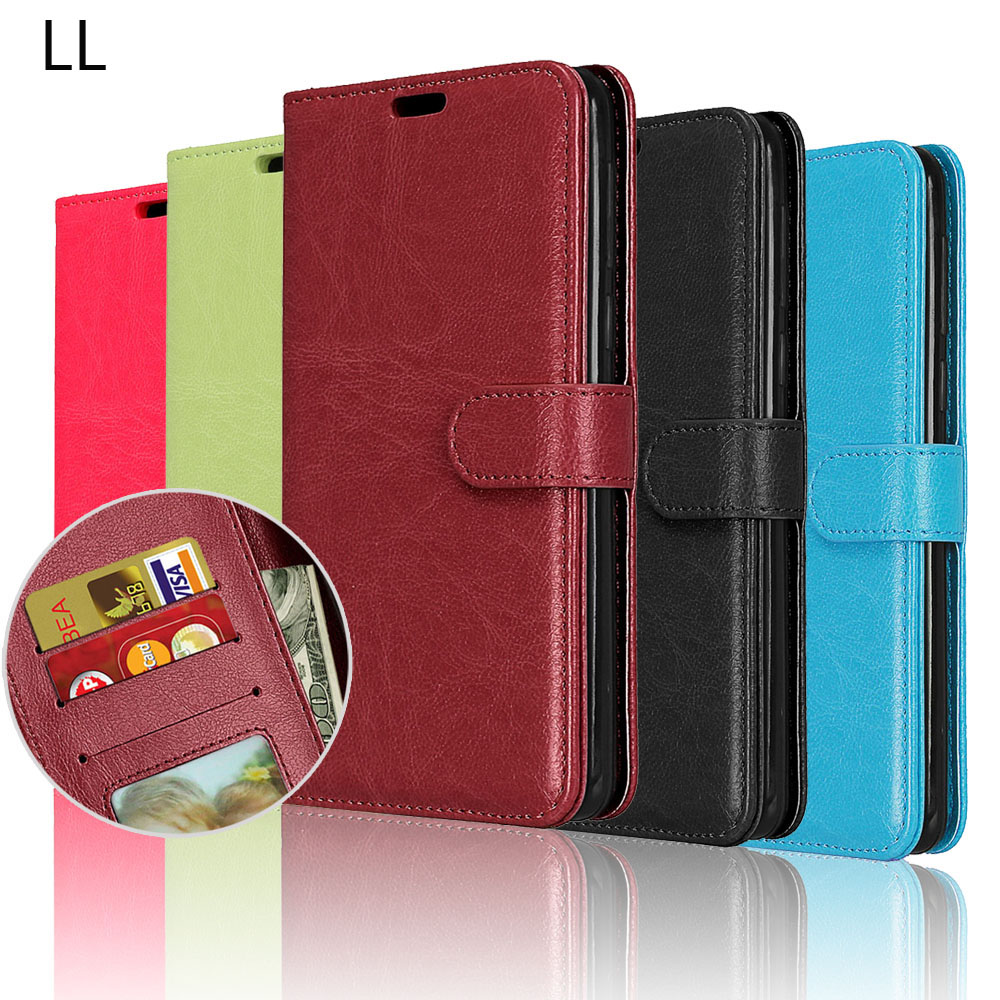 For Funda LG K10 2017 Case PU Leather Was