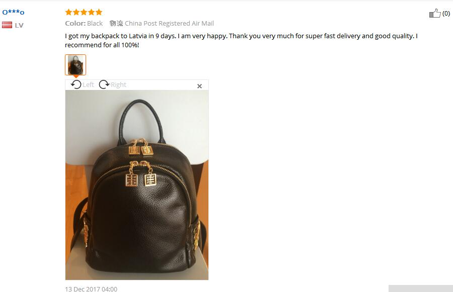 Small Genuine Leather Backpack For Women 2018 Fashion School