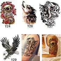 4 Unids 3D Tatuajes Temporales Plantillas Maquillaje Para Hombres Mujeres Atractivas Transferibles Tatuajes Body Art Tatuajes Temporales A Prueba de agua