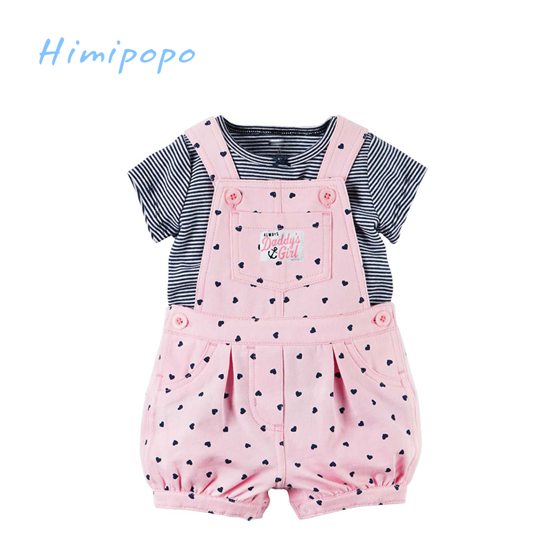 HIMIPOPO Baby Boys Girls Outfits Cute Romper Kids Clothes Sets Children Summer Sets Casual T shirt