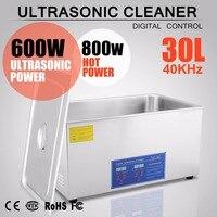 30L Heater Timer Bracket Jewelry Cleaning 1400W Digital Stainless Steel Ultrasonic Cleaner