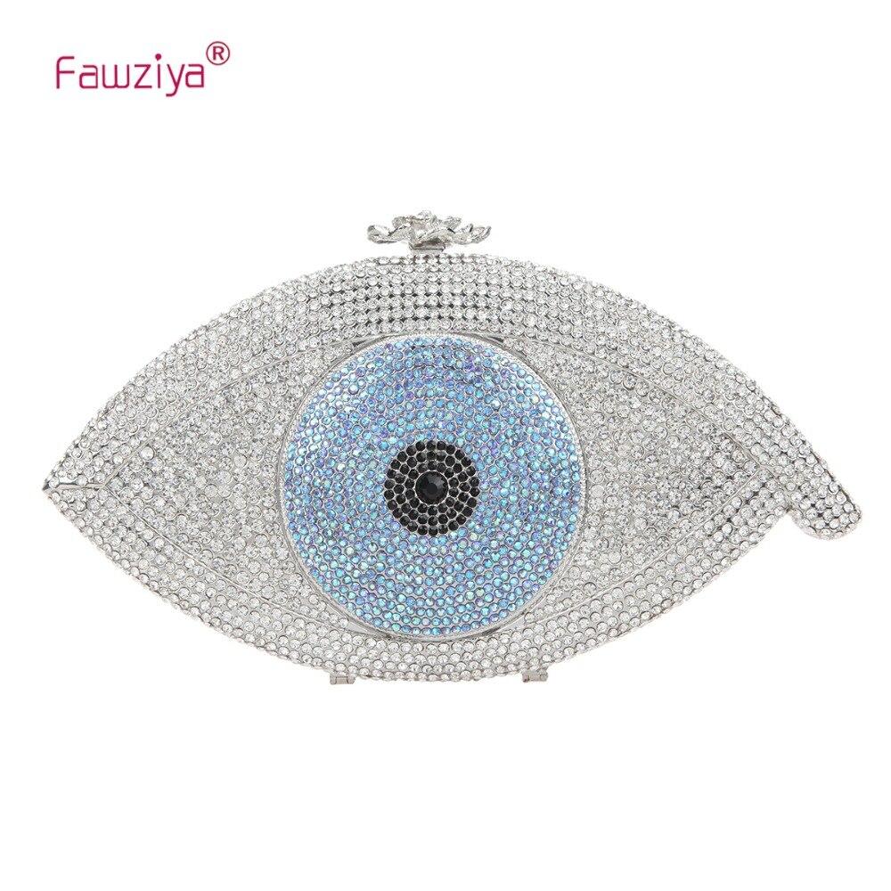 Fawziya Eye Shape Crystal Wedding Purses And handbags Evening Bag fawziya big diamond heart clutch purses for women evening bag crystal
