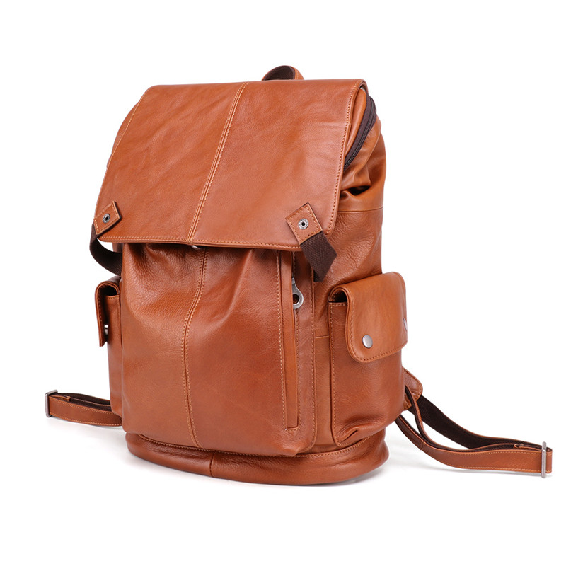Nesitu High Quality Vintage Large Brown Genuine Leather 14 Laptop Women Men Backpack Female Male Travel Bags M6437Nesitu High Quality Vintage Large Brown Genuine Leather 14 Laptop Women Men Backpack Female Male Travel Bags M6437